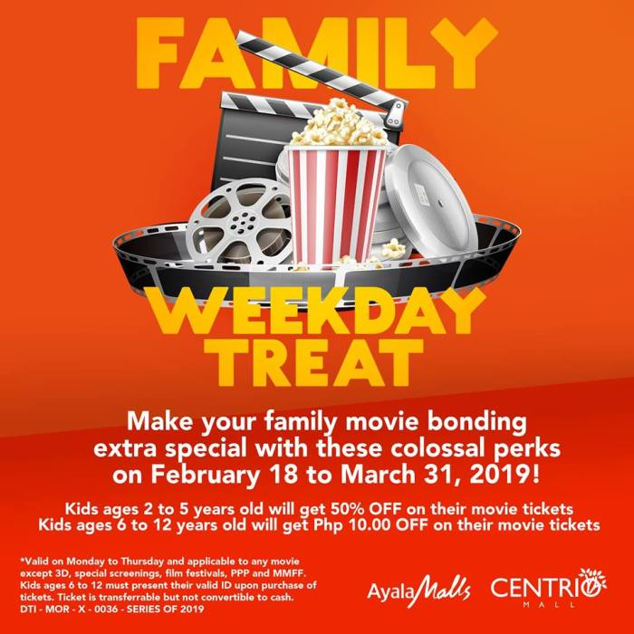 Centrio Cinema Family Day Weekday Treat