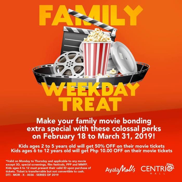 Centrio Cinema Family Day Weekday Treat