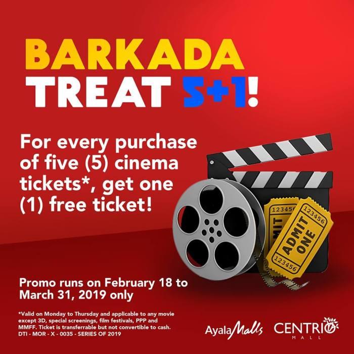 Centrio Cinemas Barkada Treat 5 plus 1