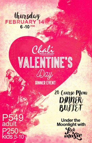 Chali Beach Resort Valentine's Dinner