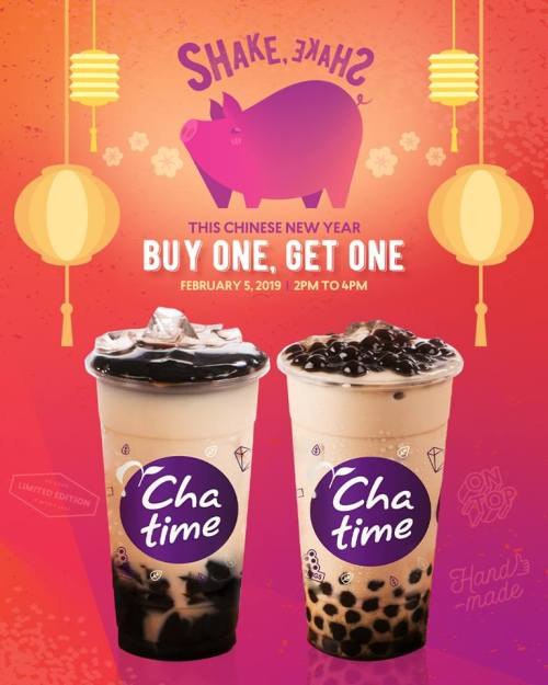 Chatime Buy 1 Get 1 Chinese New Year