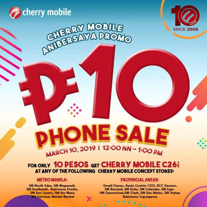 cherry mobile P10 phone sale