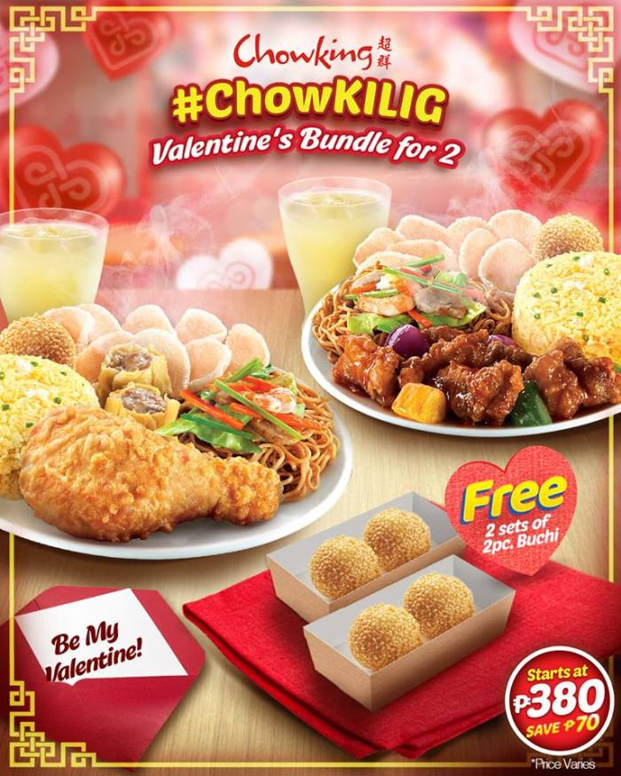 Chowking Chowkilig Valentines Bundle for 2