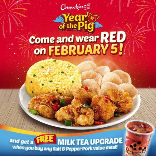 Chowking Free Milk Tea Upgrade