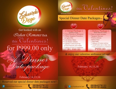 eduardoDiegoValentines cover And Menu