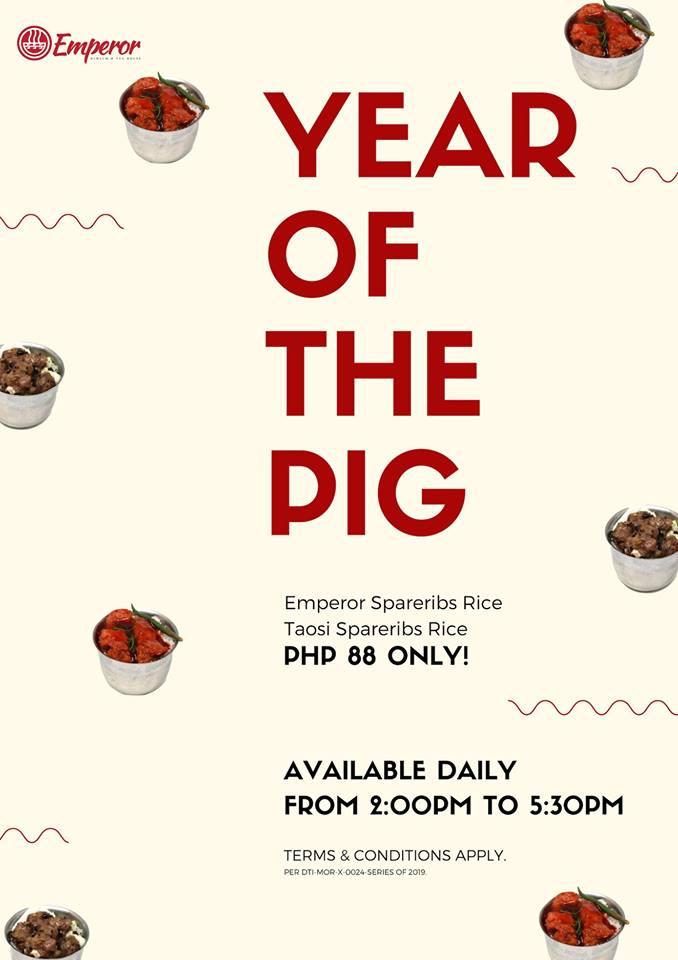 Emperor Dimsum and Tea Garden Year of the Pig Promo