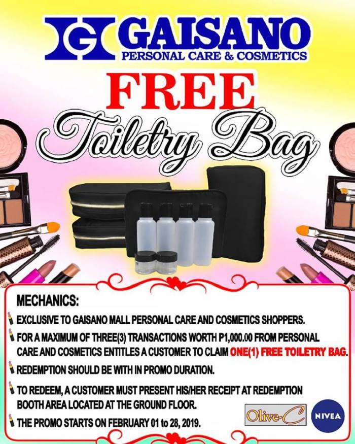 FREE Toiletry Bag at Gaisano City Mall
