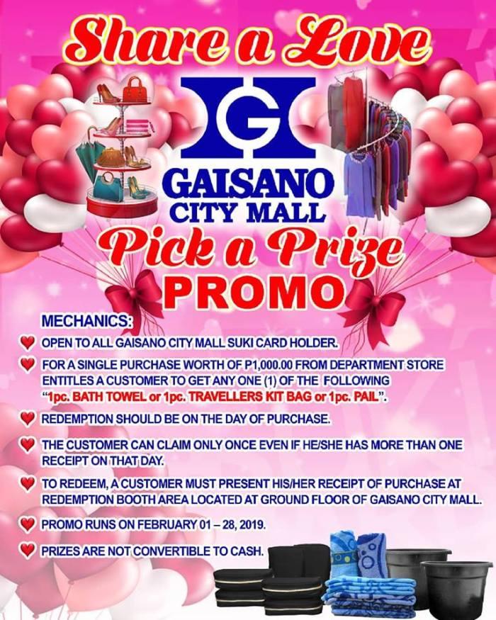 Gaisano Pick a Prize Promo