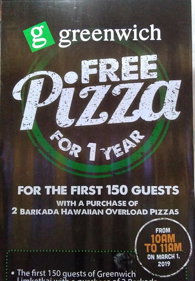greenwich free pizza for 1 year cropped