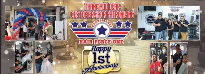 Hair Force One Barber Shop 1st Anniversary Promo