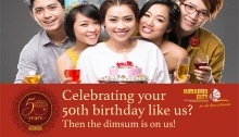 Harbour City Dimsum House 50th Birthday Celebrants Promo FI