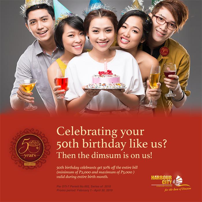 Harbour City Dimsum House 50th Birthday Celebrants Promo