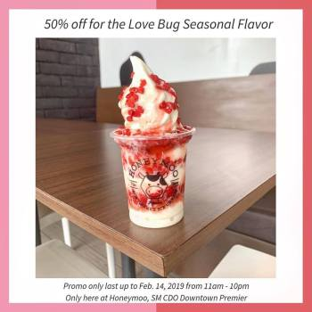 Honeymoo CDO 50% off Strawberry Love Bug Flavor