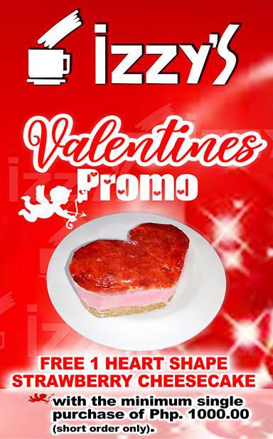 Izzy's Cafe Valentines Promo compressed
