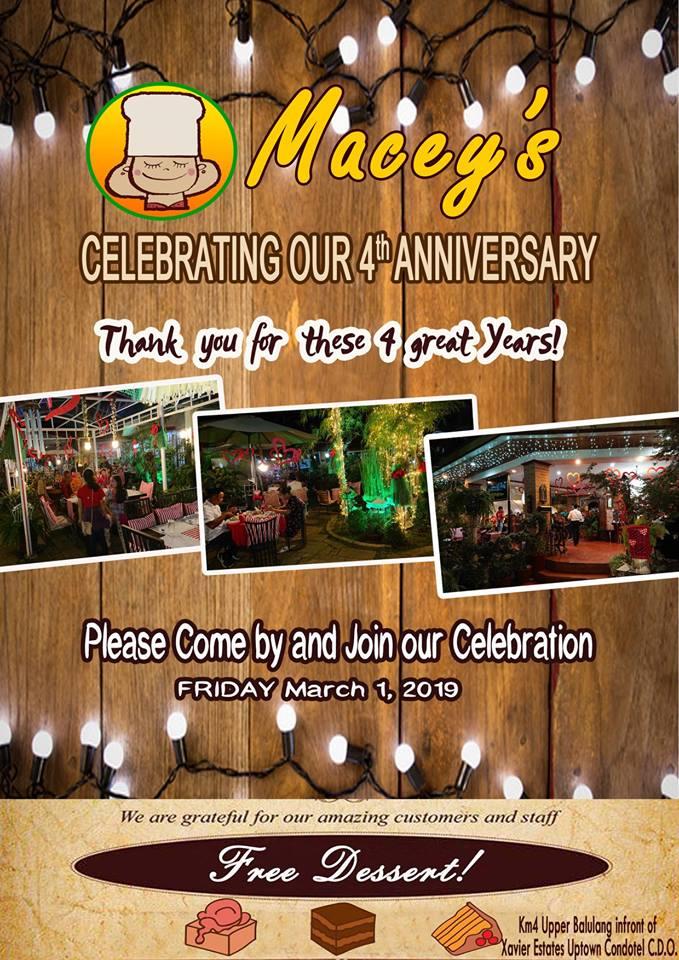 Macey's 4th Anniversary