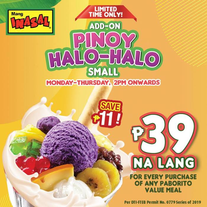 Mang Inasal Pinoy Halo-Halo Add-on Promo