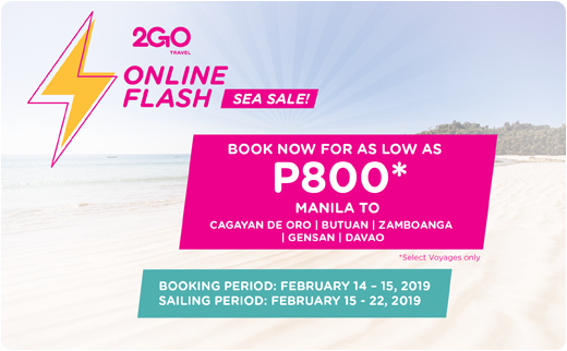 manila to cdo 2go online flash sea sale