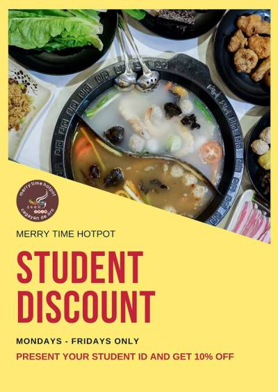 merry time hotpot student discount