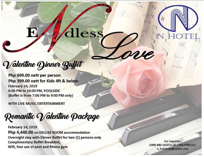 N Hotel Dinner Buffet and Valentine Package