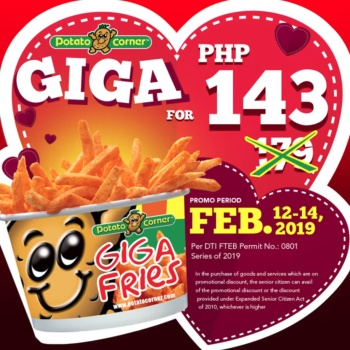 Potato Corner GIGA for PHP 143