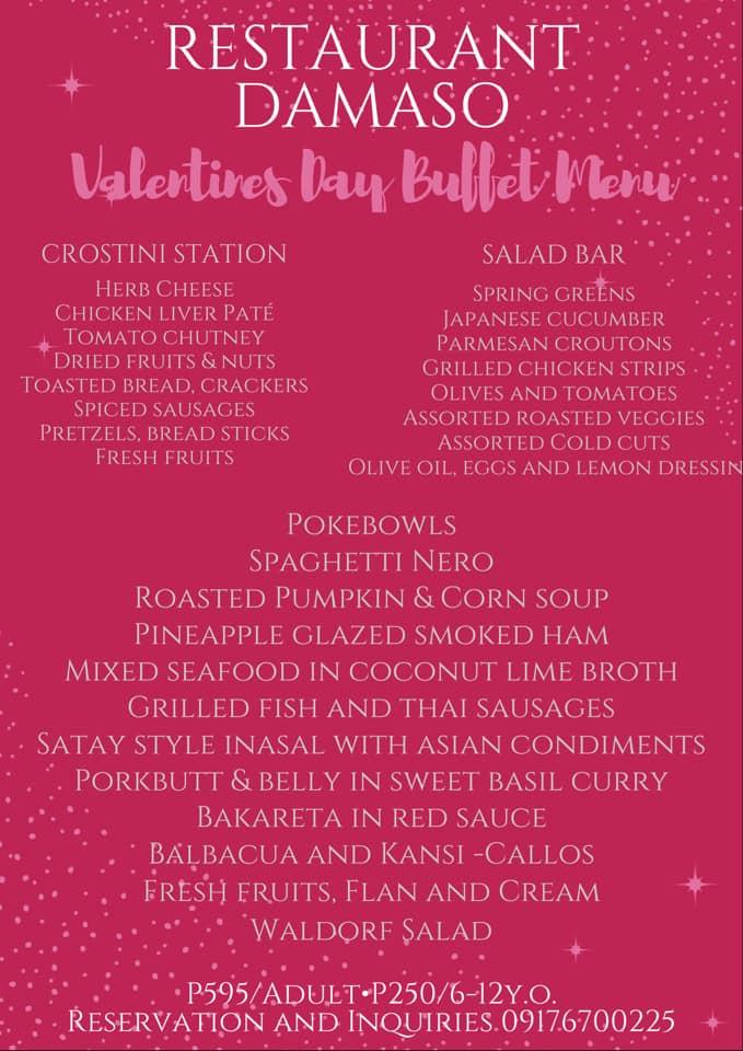 Restaurant Damaso Valentines Day Buffet