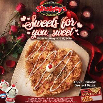 Shakey's 2 Free sundaes Valentine's Promo