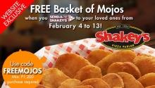 Shakey's Free Basket of Mojos FI