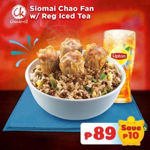 Siomai Chao Fan with Regular Iced Tea