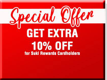 special offer for joesons suki rewards card members