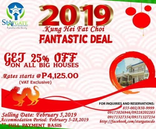 Stargate Dream Vacation Resort Chinese New Year Promo