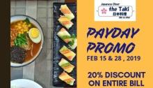 Taki's Diner Payday Promo FI