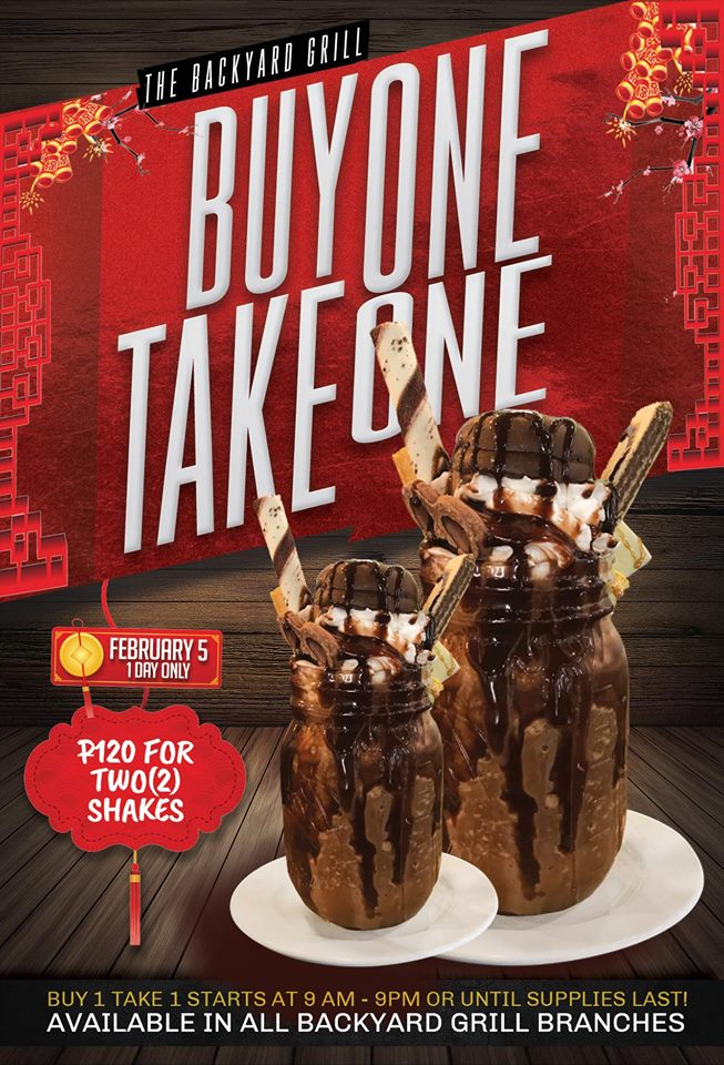 The Backyard Grill Buy 1 Take Chinese New Year Promo