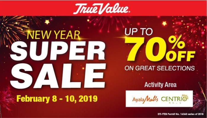 True Value New Year Super Sale at Centrio Mall FI