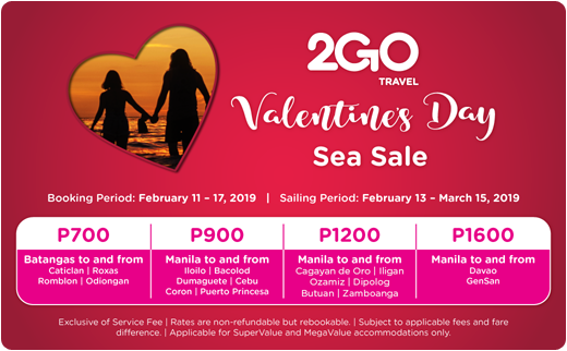 2go valentine's day sea sale