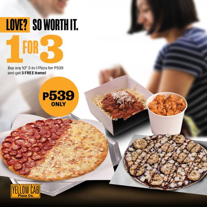 Yellow Cab 1 for 3 Valentines Promo