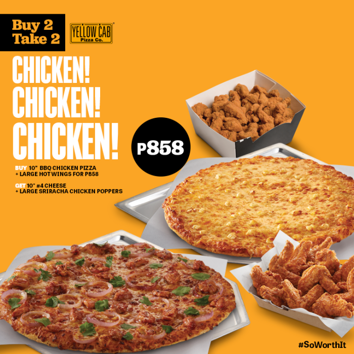 Yellow Cab Buy 2 Take 2 Chicken Chicken Chicken