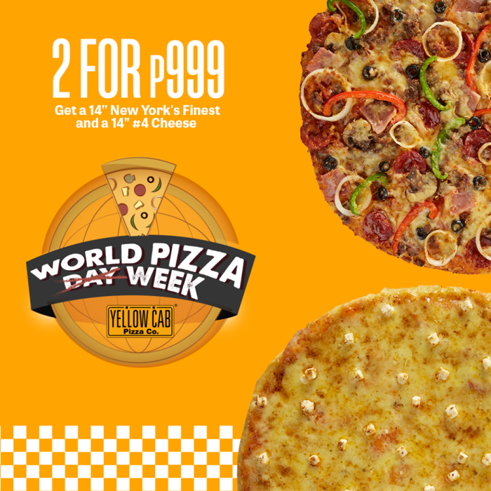 Yellow Cab Get 2 Pizzas for P999