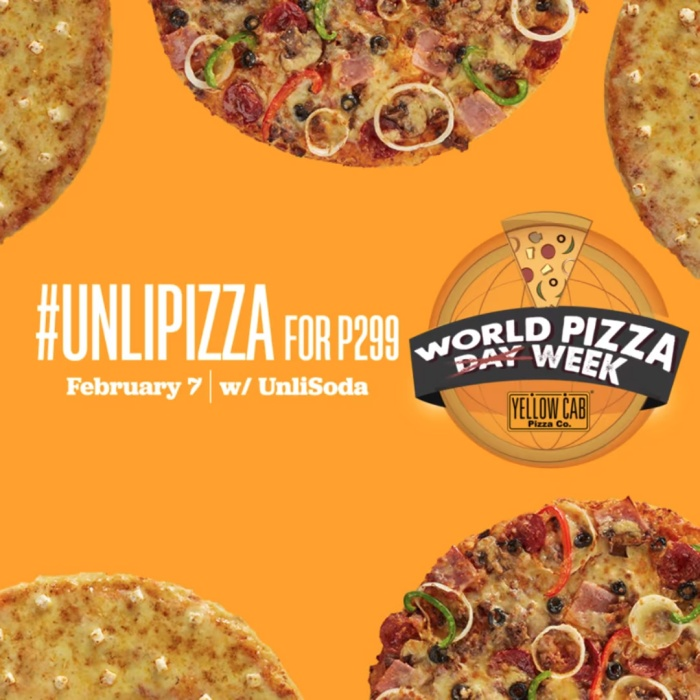 Yellow Cab Unli Pizza World Pizza Week