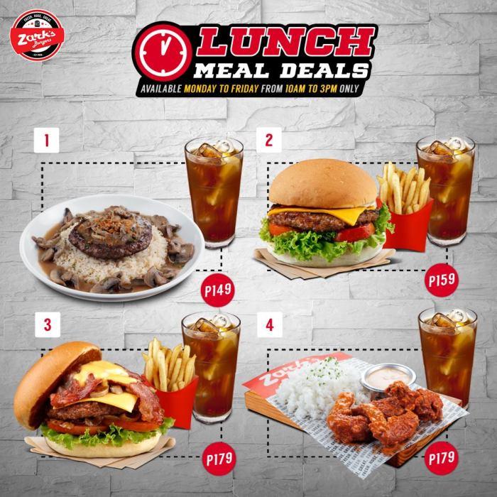 Zark's Burgers Lunch Meal Deals
