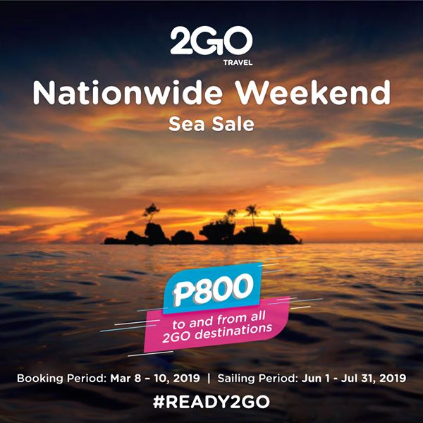 2Go Nationwide Weekend Sea Sale