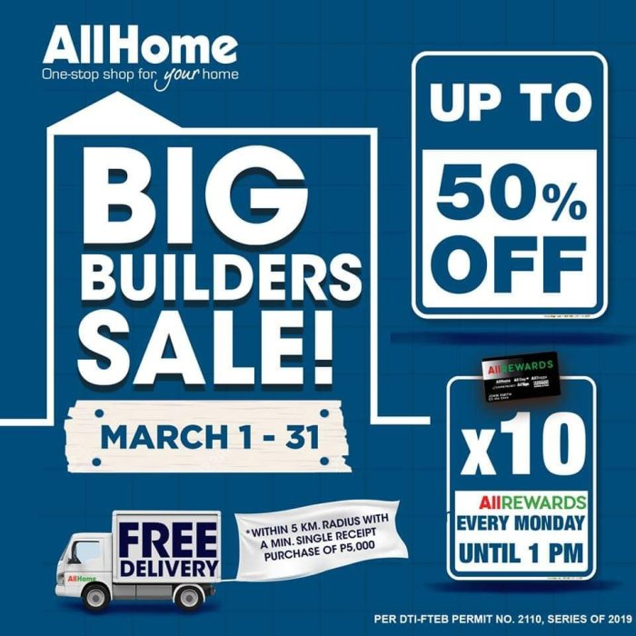 All Home Big Builders Sale