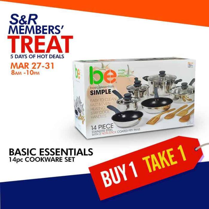 basic essentials 14pc cookware set