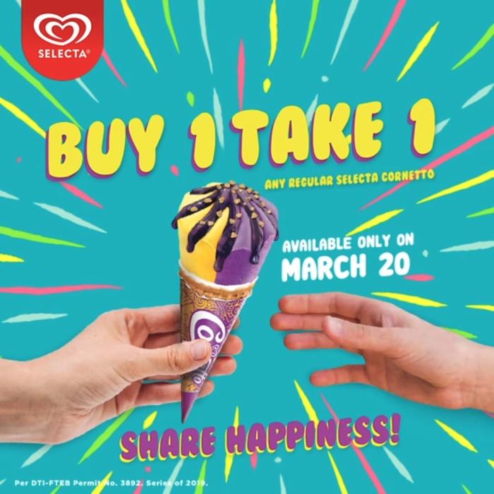 buy 1 take 1 cornetto at 7-11