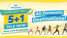 Cebu Pacific Super Seat Fest 5 plus 1 FI