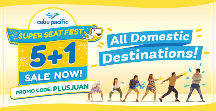 Cebu Pacific Super Seat Fest 5 plus 1