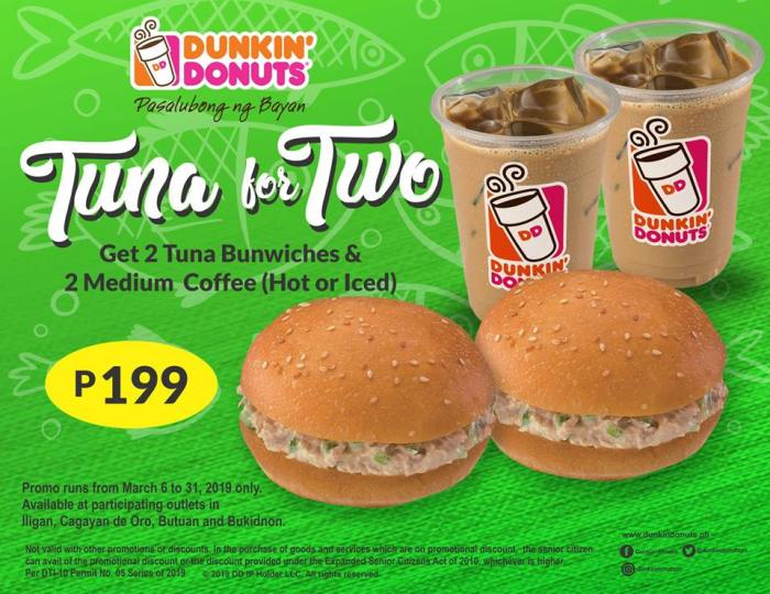 Dunkin' Donuts Tuna for Two landscape