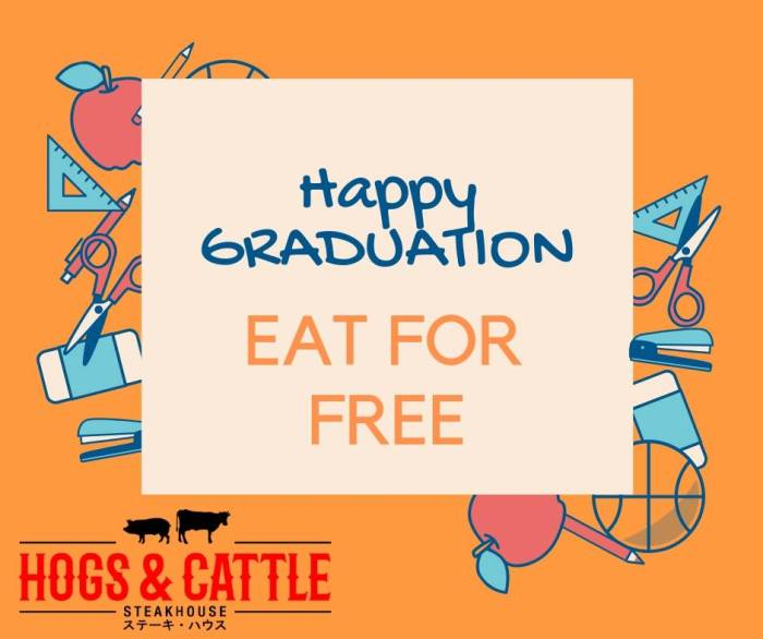Graduates Eat for FREE at Hogs and Cattle Steakhouse CDO