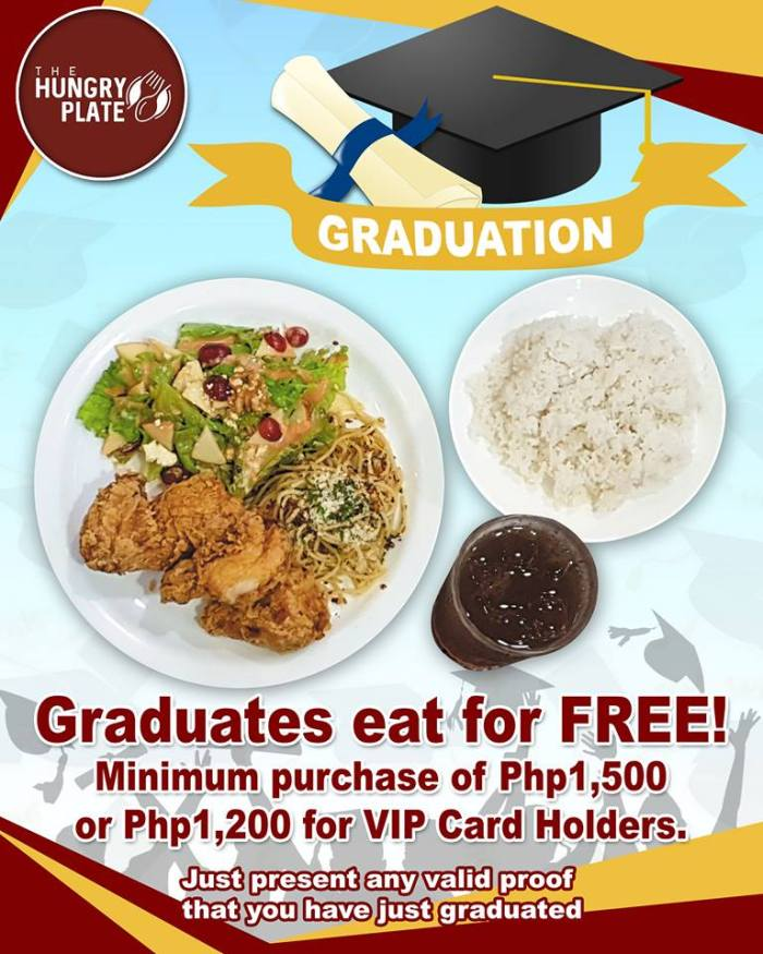 Graduates Eat for FREE at The Hungry Plate