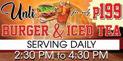 Herry's Plates & Bottles RestoBar Unli Burger Iced Tea