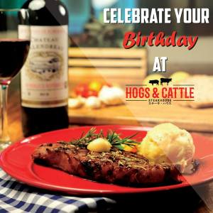Hogs and Cattle Steakhouse SM CDO Downtown Premier Birthday Treat